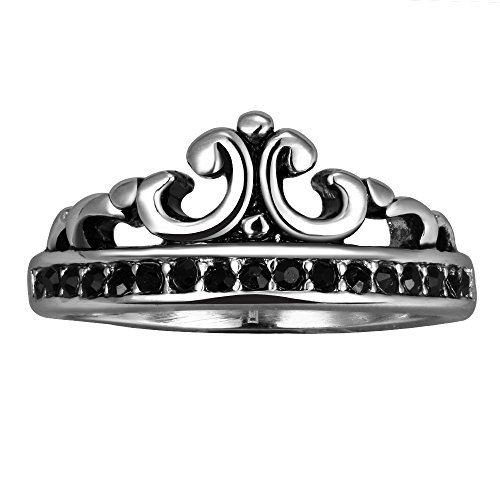 [Mens Vintage Stainless Steel Imperial Crown Ring Friendship Rings Personalized Rings Gift Punk Ring] (Punisher Costumes For Sale)