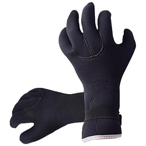 Neoprene Diving Gloves 2.5mm Anti Slip Full Finger for Snorkeling Swimming Scuba Diving Surfing Sailing (Neoprene Full Finger)