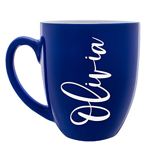 (Personalized Coffee Mugs | Customizable With Your Name/Text - 6 Different Color Option - 16 oz Ceramic Mug)
