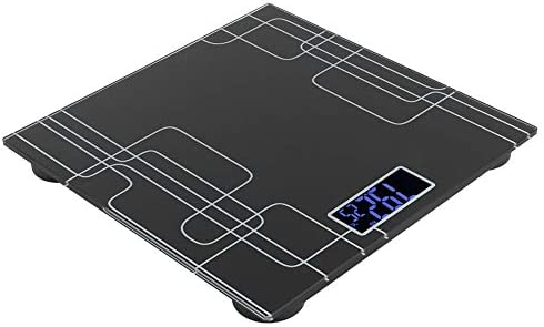 Waterproof Black 3-180kg Digital Scale, Portable Weighing Scale, Tempered Glass for Home