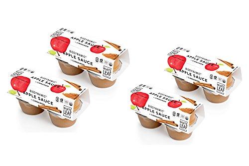 White Leaf Provisions Organic Biodynamic Apple + Cinnamon Sauce, 4 oz, Pack of 16