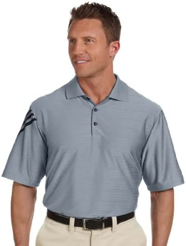 adidas Golf Men`s Climacool Wicking Jersey Polo Shirt Zone/Black XX-Large