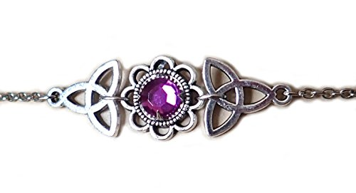 Moon Maiden Jewelry Celtic Triquetra Trinity Knot Headpiece Light Purple ()