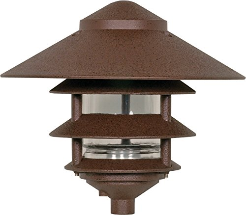 Nuvo Lighting SF76/637 One Light Three Louver Large Hood 120 Volt Die Cast Aluminum Durable Outdoor Landscape Pathway Lighting, Old Bronze