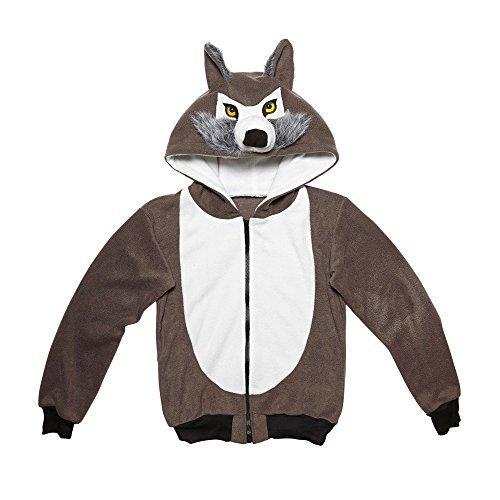 widmann 07016Adult Costume Wolf–Hooded