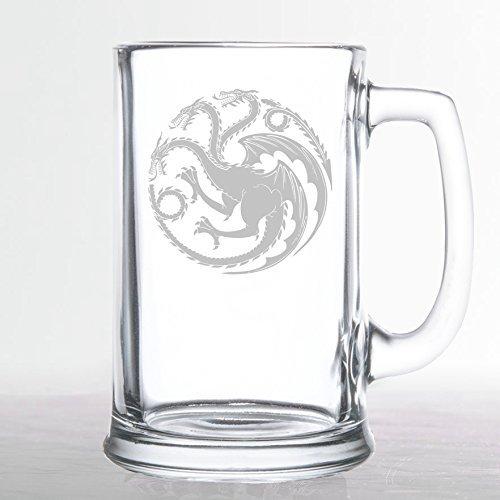 amazon com game of thrones house targaryen etched beer mug