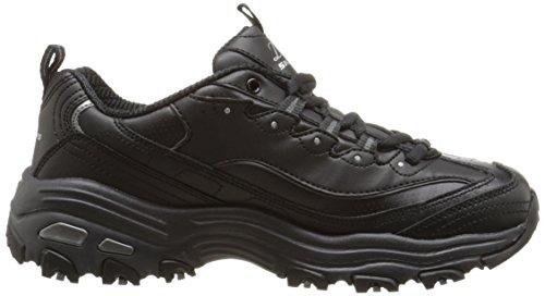 Skechers 11422 BKW - Zapatillas de deporte para mujer negro plateado