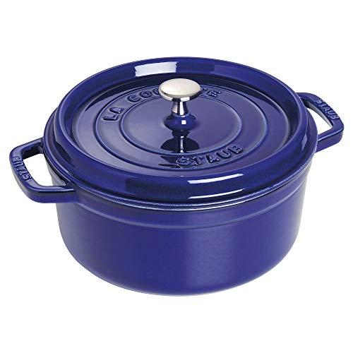 Qt Enamel Round 4 (Staub 1102491 Round Cocotte Oven, 4 quart, Dark Blue)