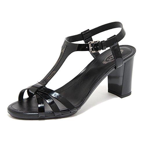 Gomma Fasce Plat Sandalo Women Tod's Shoes Rd Scarpa Nero Donna 55645 qEStXwq