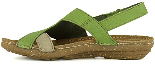 Green Soft Green N5221 Piedra Sandals Elastic El Pleasant Woman Torcal Grain Naturalista n4SxWf