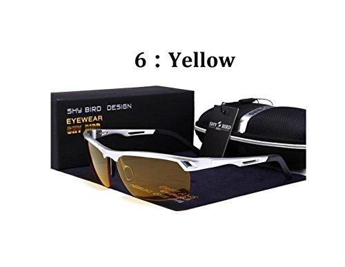 Gafas De Deportivas Shy Motociclistas para De Amarillo Calidad Espejo Conductores 6 Negro Bird Polarizadas Ciclistas Sol 3 w0xq5HSYq