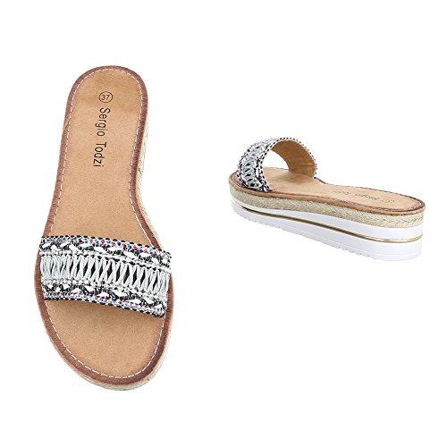 Ital-Design - zapatillas de baile (jazz y contemporáneo) Mujer negro y gris