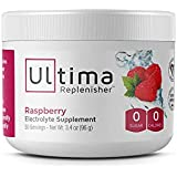 Ultima Replenisher Electrolyte Powder 30 Serving Canister, Raspberry, 3.4 Ounce