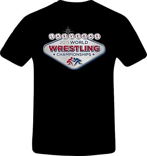 Las Vegas Wrestling, Best Quality Costum Tshirt (S, BLACK) (Best N64 Wrestling Games)