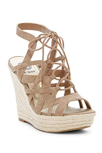 G by GUESS Womens Dritta2 Open Toe Casual Ankle Strap Sandals, Tan, Size 11.0 (Sandals Guess Strap Ankle)