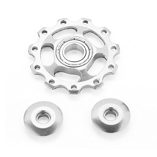 2pcs 11T Bike Aluminum Alloy Bearing Jockey Wheel Rear Derailleur(Silver) - 6
