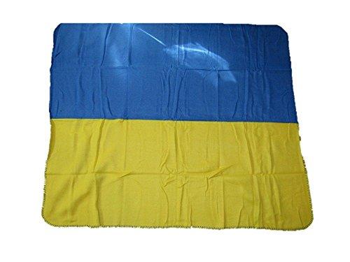 Ukraine Ukrainian Plain Flag 50x60 inch Polar Fleece Blanket Throw Brand