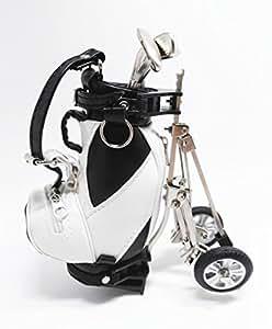 Amazon.com: QTMY Novelty Golf Club Ballpoint Pens in Mini Golf Caddy Bag, Office Desk Pen Holder