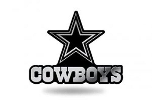 Rico Industries NFL Dallas Cowboys Chrome Finished Auto Emblem 3D Sticker ()