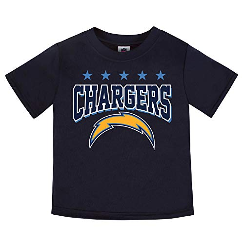 NFL Los Angeles Chargers Male Short sleeve Team Tee, Blue, 2T