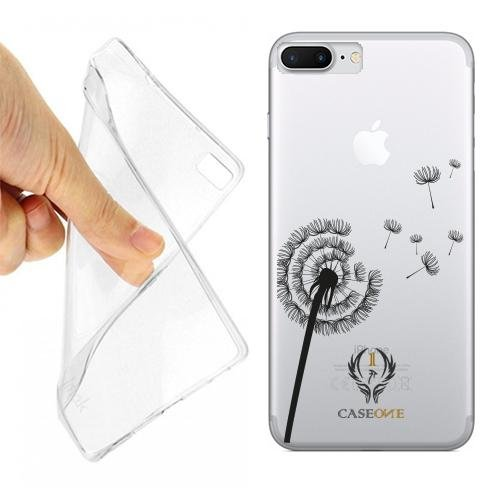CUSTODIA COVER CASE VOLO-FIORE PER IPHONE 7 PLUS TRASPARENTE