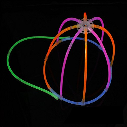 [Glow Stick Light Up Toy Glowing in the Dark Cap for Parties Festival Holiday Christmas Adults and Kids Favorite with 13 Glowing Sticks] (Diy Disco Ball Costume)