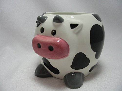 Holstein Cow 20 Oz Large Coffee Tea Cocoa Mug Cup 3-D Figural Hand Painted