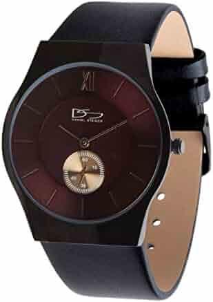 f5555be8d Daniel Steiger Brompton Men's Watch Quartz- Ultra Slim 7mm Case Design -  Black Plated Stainless