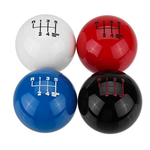 - Universal 6 Speed Round Ball Gear Shift Knob Short Throw Shifter Lever - Black