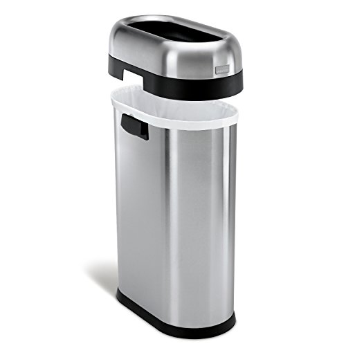 Simplehuman Slim Open Top Trash Can Commercial Grade