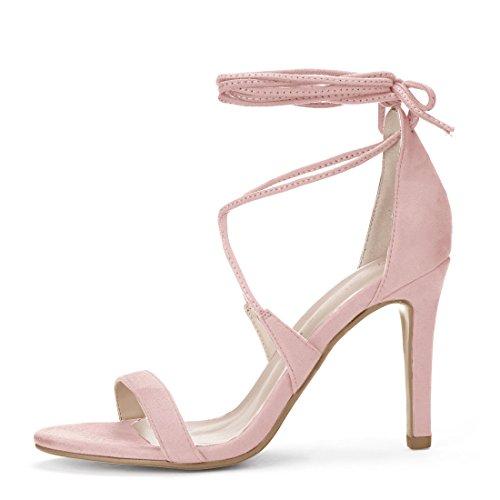 Pink Light Allegra up Lace Heel Stiletto Sandals K Women's qCwqp80