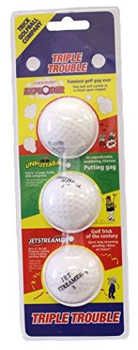 Triple Trouble Trick Golf Balls (Ball Golf Exploder)