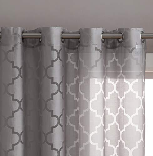 HLC.ME Sheer Voile Grommet Window Curtain Panels for Bedroom, Living Room & Nursery Room - 63