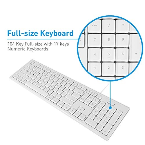 Macally Full-Size USB Wired Keyboard for Mac Mini/Pro, iMac Desktop Computer, MacBook Pro/Air Deskto - http://coolthings.us