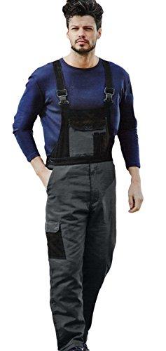 Thermo-Arbeitshose Latzhose Arbeitskleidung strapazierfähig - ideal für kalte Jahreszeiten - Farbe Blau/Schwarz - Größe: M-XXL von Brandsseller (M: 48/50, Anthrazit/Schwarz)