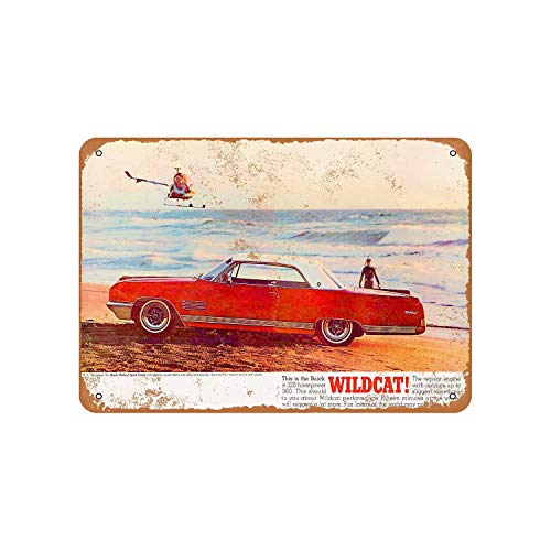 - Fhdang Decor Vintage Pattern 1964 Buick Wildcat Vintage Look Aluminum Sign Metal Sign,6x9 Inches
