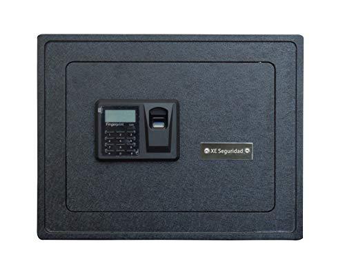 XE Seguridad Caja Fuerte Biométrica Grande (Negro)