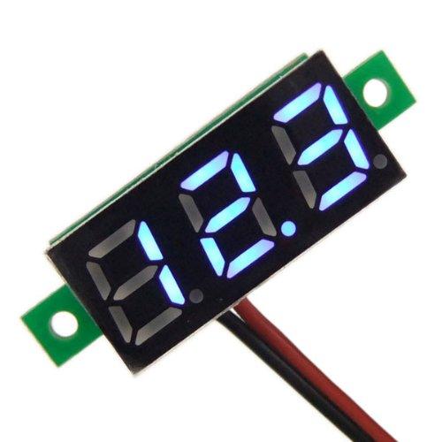 DROK 6 0.28'' Digital Voltage Meter DC 3.00~~30V Volt Tester LED Voltmeter Panel 2 Wires Car Motorcycle Battery Monitor Gauge~ by DROK