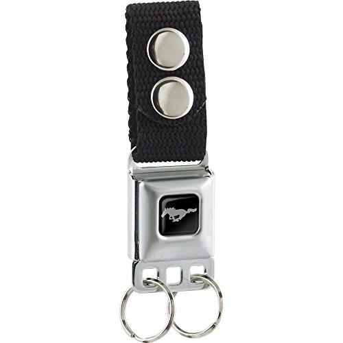 Ford Mustang Pony Seat Belt Buckle Keychain - Seat Belt Buckle Emblem