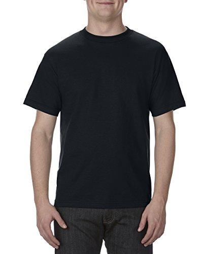 Alstyle Apparel AAA Men's Classic Cotton Short Sleeve T-shirt, Black, 2XL