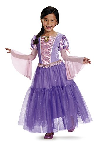 Rapunzel Deluxe Disney Princess Tangled Costume, Small/4-6X (Disney Duo Costumes)