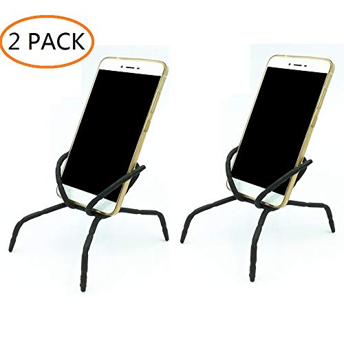 Spider Phone Holder,Universal Multi-Function Portable Spider Flexible Grip Hang Mount Stand Holder for Cell Phone Smartphones,Black (2-Pack)