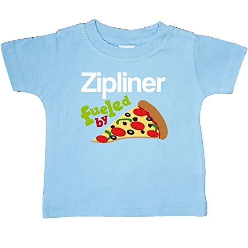Inktastic - Zipline Pizza Quote Baby T-Shirt 12 Months Light Blue - Lite Zip Tee