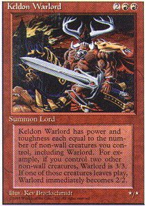 Magic  The Gathering   Keldon Warlord   Fourth Edition