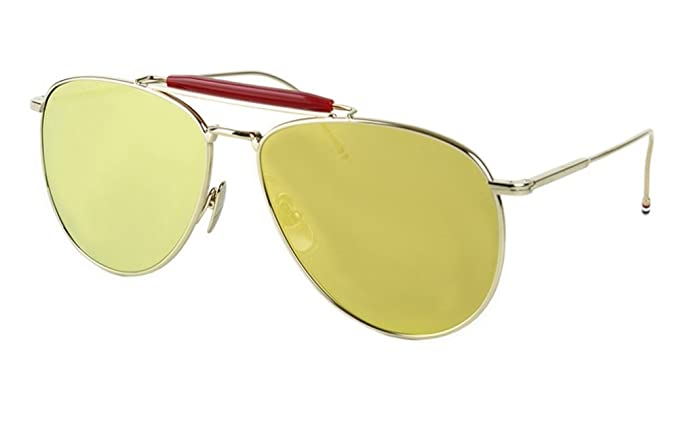 da3a8262c47 Image Unavailable. Image not available for. Colour  Thom Browne TB-015  Sunglasses 62mm Gold