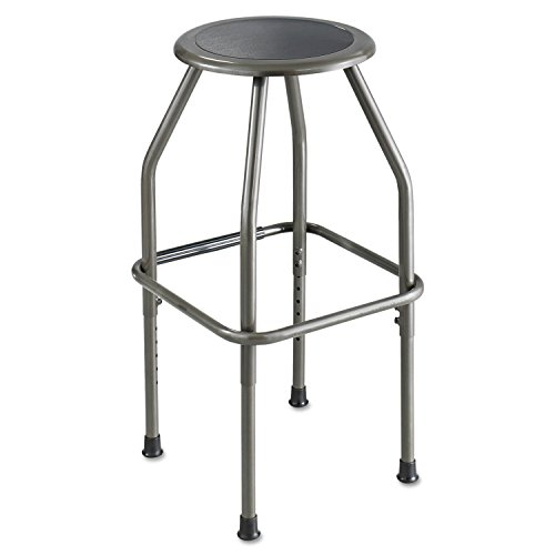 Safco 6666 Diesel Series Industrial Stool Stationary Padded Seat Steel Frame Pewter Diesel Series Industrial Seating