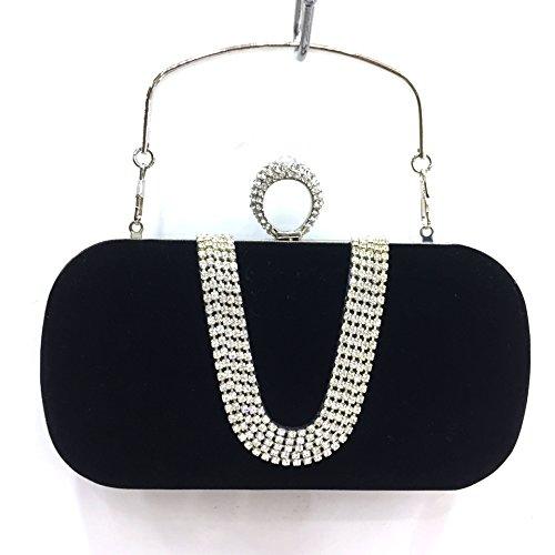 Sac De Velours Mariée Main Soirée Bague Black Diamant Aw66 Fyios Big Luxe Size U À dwqpTnxY