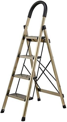 SED Escaleras de tijera multiusos Escalera de peldaño plegable Escaleras gruesas de aleación de aluminio Escalera de ingeniería móvil para el hogar para la limpieza de muebles Reemplazo de la cortina: Amazon.es: