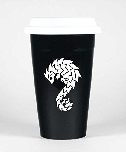 PANGOLIN Travel Mug - BLACK - Insulated Stoneware