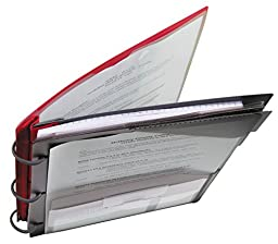 Five Star Flex NoteBinder, 1-Inch Capacity, Customizable Cover, 11.5 x 10.75 Inches, Notebook and Binder All-in-One, Red (72349)
